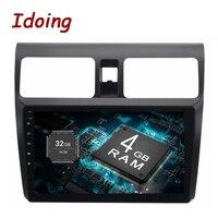 Idoing 1Din 4G 10,2 B + 32 ГБ для Suzuki Swift Android 8,0/7,1 рулевое колесо 8 ядерный Автомобильный gps плеер навигация быстрая загрузка 4G без DVD