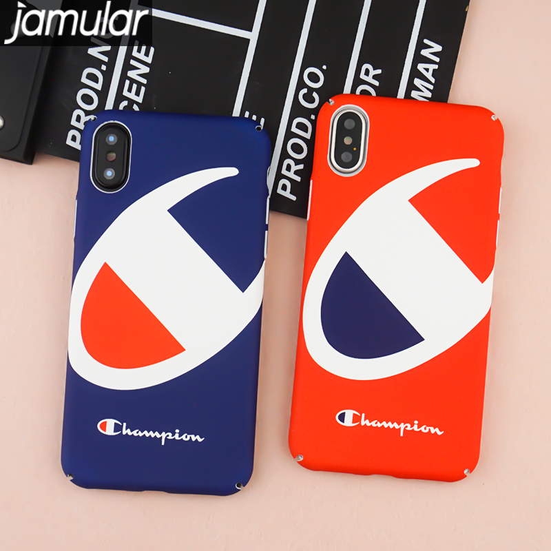 release date 6cea4 e2d52 US $3.11 |JAMULAR Luminous Champion Case For iPhone 7 6s 6 X 8 Plus Japan  Street Hard Plastic Back Cover For iPhone 10 X 8 Newest Coque on ...