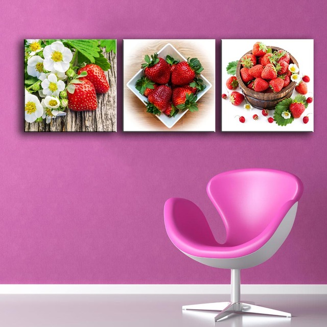 HDARTISAN Home Decor Wall Pictures For Living Room Canvas Fruit ...