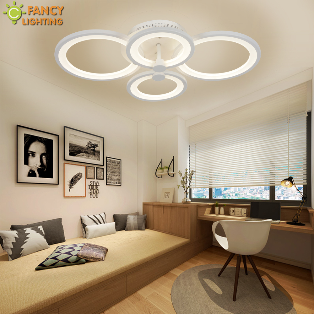 Modern Led Ceiling Light Warm/nature/cool White Circle Chandelier Ceiling For Bedroom/living Room/home Decor Luminaria De Teto Easy To Repair Lights & Lighting Ceiling Lights & Fans