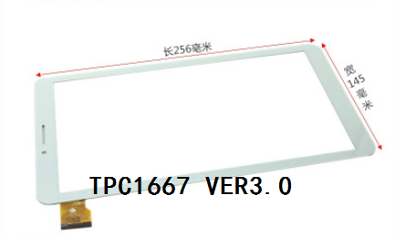 TPC1667 VER3.0 New original 10.1 inch tablet capacitive touch screen free shipping