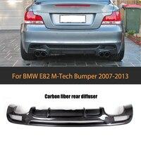1 серии углеродного волокна заднего бампера для губ Диффузор для BMW E82 E88 М Спорт 2 двери только 07 13 кабриолет не хэтчбек четыре розетки