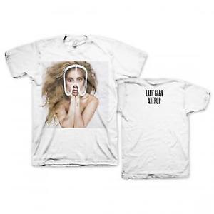 Authentic LADY GAGA Art Pop Teaser Photo Logo White T-Shirt S-2XL NEW
