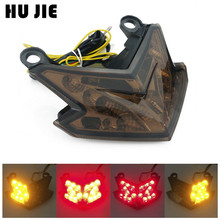 Motorcycle LED Integrated Tail Turn Signal Light For KAWASAKI Ninja ZX6R ZX 6R Z800 2013-2016 14 15 led tail brake light turn signal for kawasaki z125 2016 2019 z800 ninja zx 6r 2013 2018 17 motorcycle integrated blinker lamp