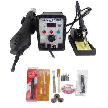 1PC 8786D Welder with gun and soldering iron soldering iron holder repair machine welding machine 110V/220V