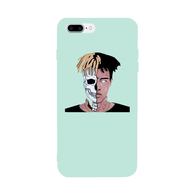 detailed look 4bc6a 888f8 US $9.0 |Xxxtentacion For Iphone 7Plus Case Soft TPU Colorful Covers For  Iphone 6/6s/6plus Ultra thin Glaze For Iphone Case 7 4.7/5.5Inch-in Fitted  ...