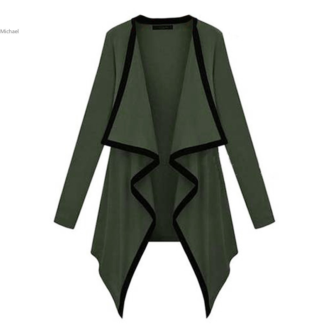 New Arrival Fashion Women's Asymmetric Cape Womans Poncho Top Cardigan Long Sleeve Coat High Street Sweater For Winter Spring 41
