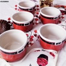 Christmas Ceramic Bowl Breakfast Cup Soup Bowl Rice Bowl Mug Cup Breakfast Cup Vegetables Fruit Bowl Baby Tableware