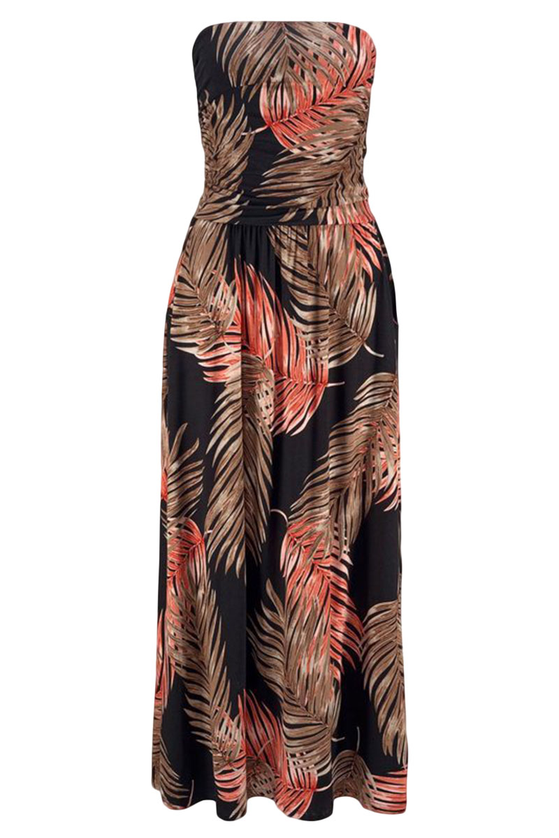 Orange-Bohemian-Bandeau-Floral-Print-Maxi-Dress-LC611159-14-2
