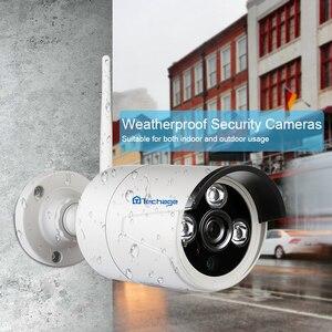 "Image 4 - Techage 2 1 4ch 1080 p 12 ""lcd 무선 nvr wifi cctv 시스템 야외 2mp 오디오 레코드 사운드 카메라 p2p 비디오 감시 키트"