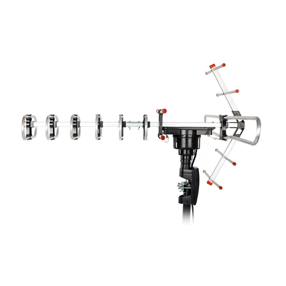 Tv-Antenna Outdorr Rotation 45-860mhz Black 110V Leadzm TA-101B 22-38db 360-Degree Open-Tv