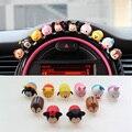 FULL WERK Cute Animals Car Dashboard Decoration Creative Cartoon Silicone Ornaments (Pack of 10)