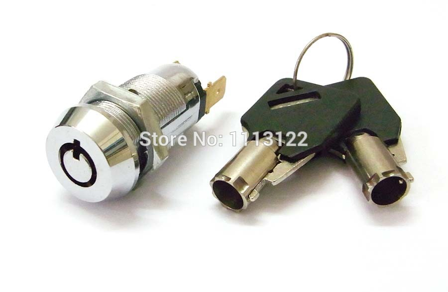 7 Pins Switch Lock for Elevator 7 Pins Power Switch lock Round key Electronic Lock Key removed in 1 position 1 PC panlongic 16mm 735 s1601 type 250v 1a electronic lock key switch phone lock double pull power supply lock power lock