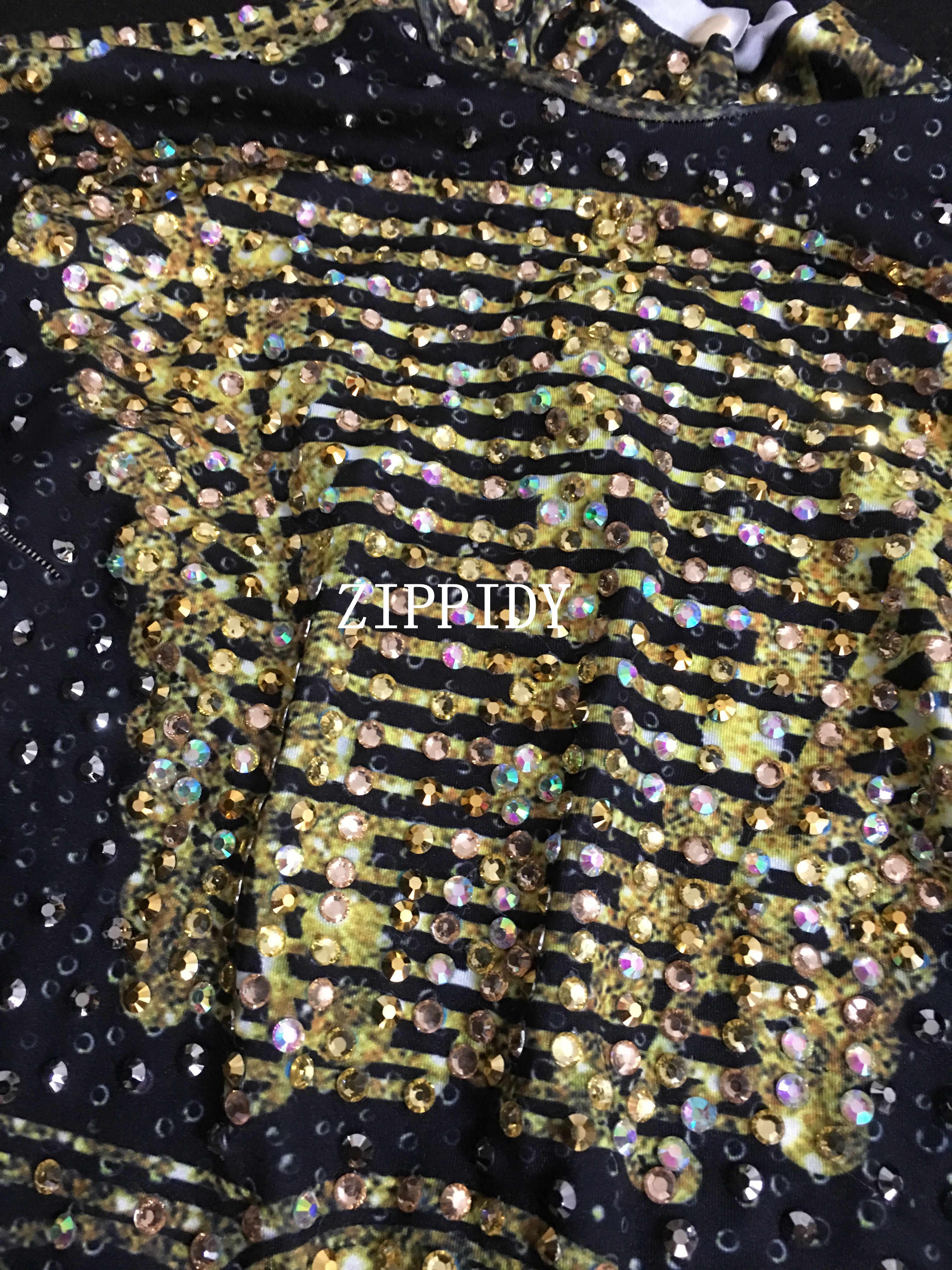 Золотистый комбинезон со стразами с бахромой, женский джазовый танцевальный телесный облегающий Костюм Стретч, наряд для вечернего шоу, цельный сексуальный костюм