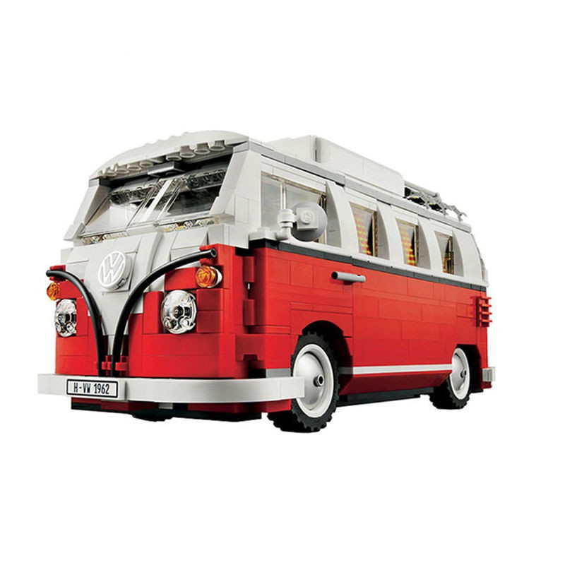In-Stock 1354Pcs 2017 New  21001 Volkswagen T1 Camper Van Model Building Kits Bricks Toys Compatible with Andiran Technic Car