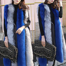 ETHEL ANDERSON 100% Real Fox fur Strip Long Vest with Belt Genuine Fox fur Waistcoat Whole Skin Outwear Warm Pink Color Style(China)