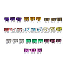 100PCS 3~40A Medium Size Auto fuse, 10pcs for each specification,  The fuse Insurance insert Lights Fuse with box and clip