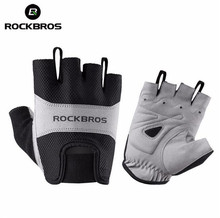 ROCKBROS Cycling Bicycle font b Gloves b font Half Finger Men Mountain Road Bike Shockproof Breathable