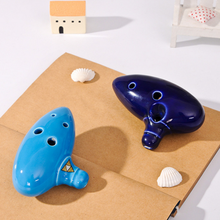 Promo gifts 6 Holes Ocarina in Flute For Alto C Ceramic Flute of Time Tao Qin ceramics Chinese musical instruments kids toys Children