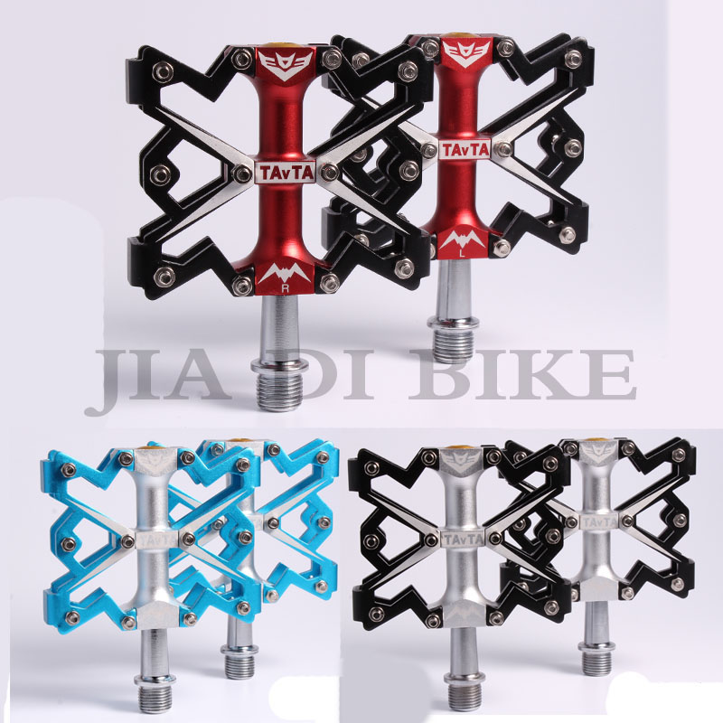 ФОТО Mountain bike pedal Aluminium alloy Bicycle Pedal Three perlin MTB  Road bicycle Bike Trial Ultralight Skid resistance