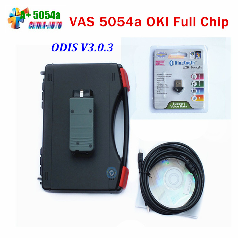 2016 Top Selling VAS5054a VAS 5054a ODIS V3.0.3 Diagnostic Tool with Bluetooth + OKI Chip Support UDS Protocol with Full Chip vas 5054a with oki chip vas5054a odis 3 0 3 bluetooth support uds protocol vas 5054a with plastic carry case diagnostic tool