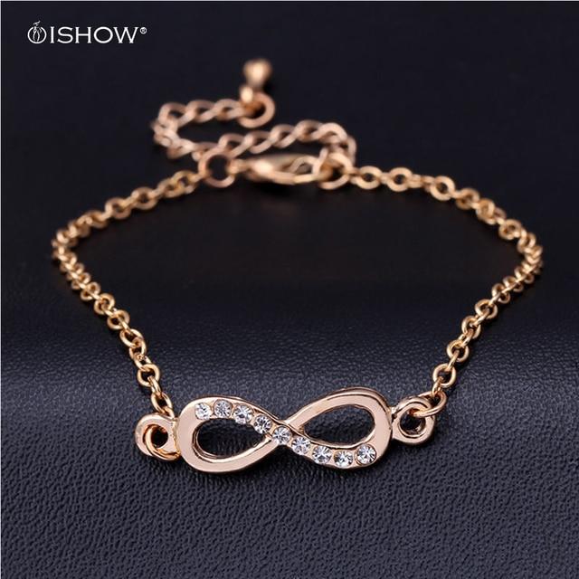 New Fashion Crystal Infinity Symbol 8 Cz Friendship Bracelets