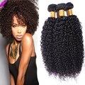 8А Класс Малайзии Девы Волос Кудрявый Вьющиеся Weave Человеческих Волос Малайзии Вьющиеся Волосы 4 Пачки/Лот Afro Kinky Вьющиеся Волосы девственницы