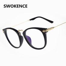 f10dd6cf555 Women Men Elegant Designer Metal Temple No Diopter Glasses High Quality Optics  Frame Eyewear Frames Filling Prescription G662