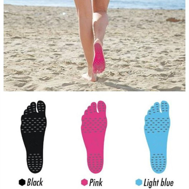 Foot Sticker Shoes Stick On Soles Sticky Pads For Feet Beach Sock Waterproof Hypoallergenic Adhesive Pad For Walking Freely