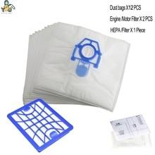 Paquet de 16 sacs à poussière 1 filtre HEPA pour aspirateur ZELMER ODYSSEY Cobra Clarris 49.4000 ZVC100B ZMB02K ZVCA050H accessoires