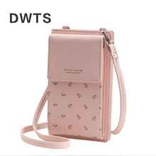 2019 New Women Casual Wallet Brand Cell Phone Wallet Big Card Holders Wallet Handbag Purse Clutch Messenger Shoulder Straps Bag(China)