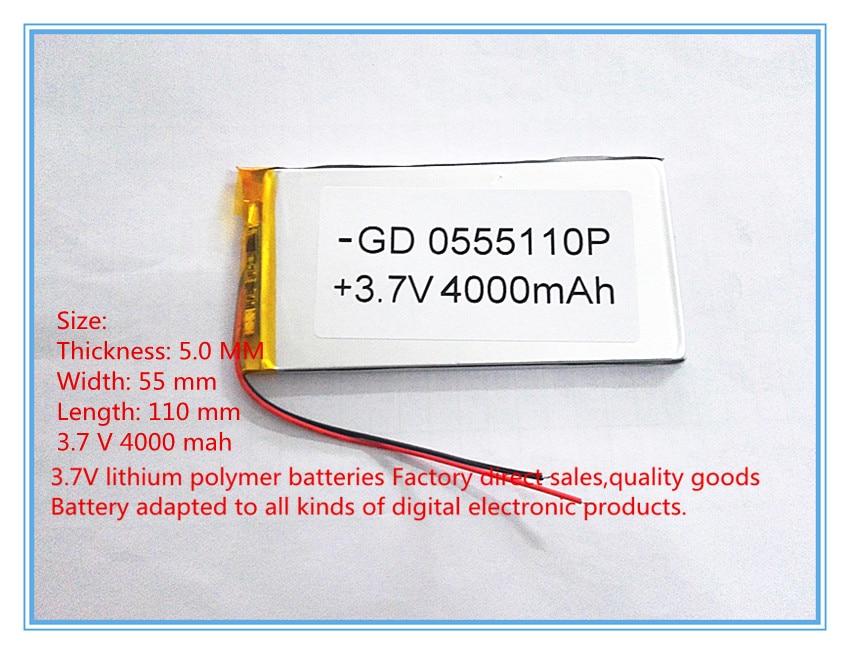Envío libre 3.7 V batería de polímero de litio 4000 mah gran - Accesorios para tablets