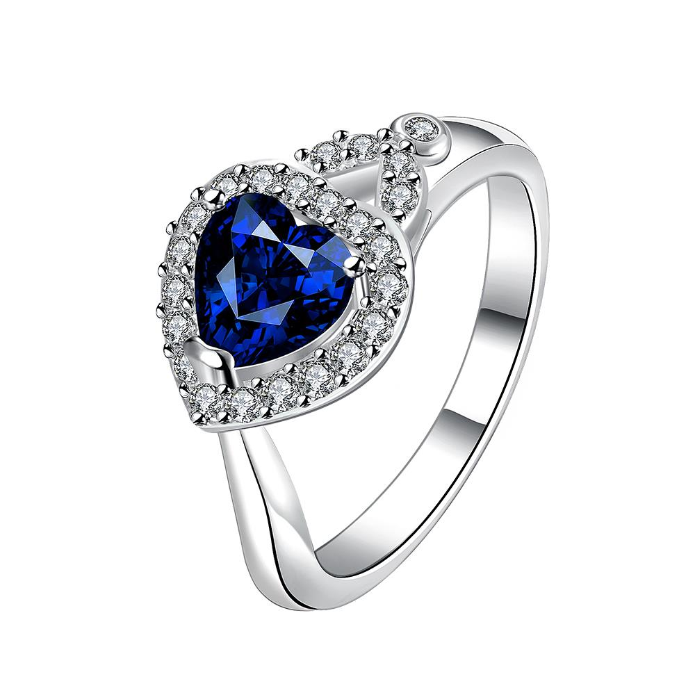 Free Shipping Online Shopping India Silver Engagement Ring Strawberry Blue  Anillo Oso Fashion Jewelry Hbr335(