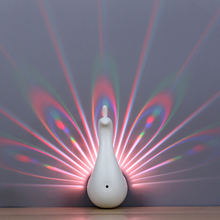 Peacock Shaped Light Projector for Bedroom Decor