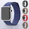 Lazo de cuero para apple watch cuero venezia acolchada y ajustable lazo de cierre magnético para apple watch serie 1 serie 2