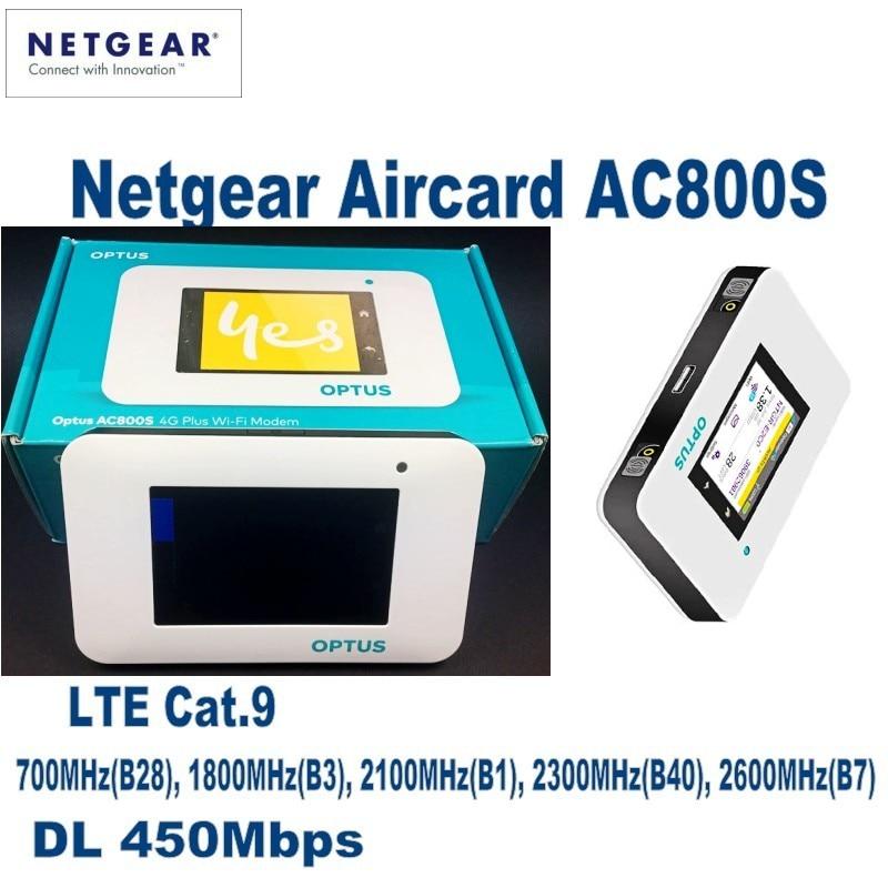 Unlocked Netgear Aircard AC800S 4G Router LTE Cat.9 Mobile Hotspot WiFi Modem