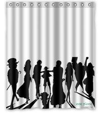 hero One Piece big shadow  best sell 2015 boy favorite gift cartoon Personalized Shower Curtain (60″ x 72″)