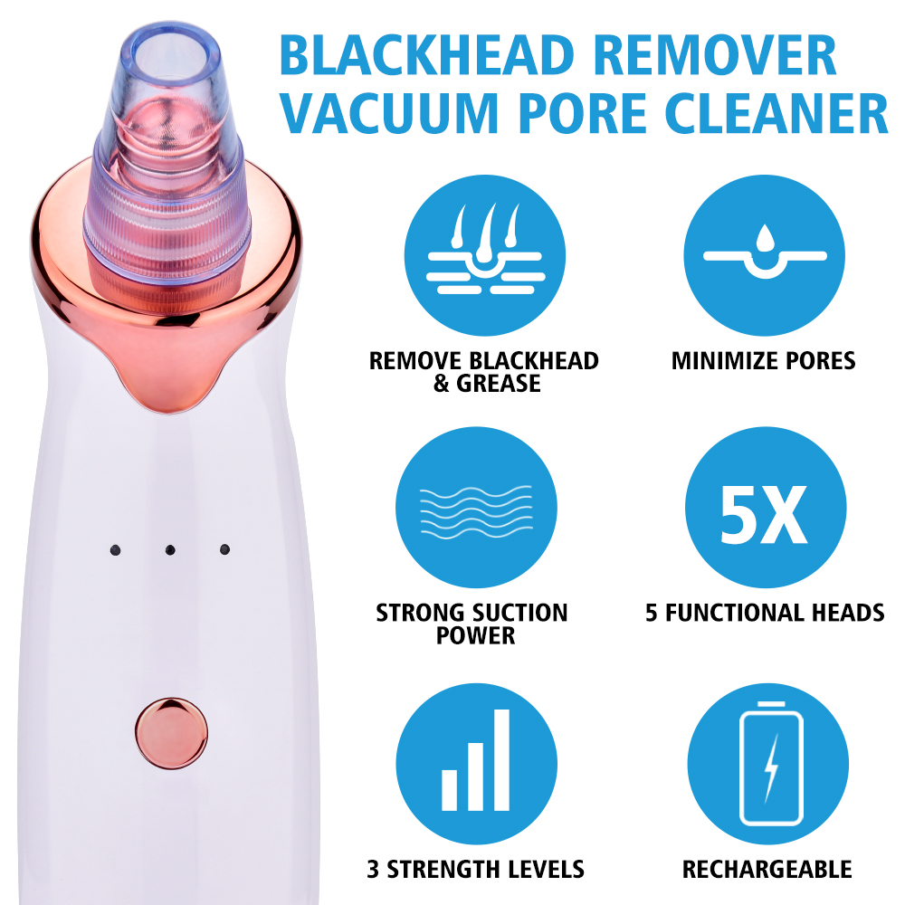 Bottle - Blackhead Remover Vacuum Pore Cleaner Electric Nose Face Deep Cleansing Skin Care Machine