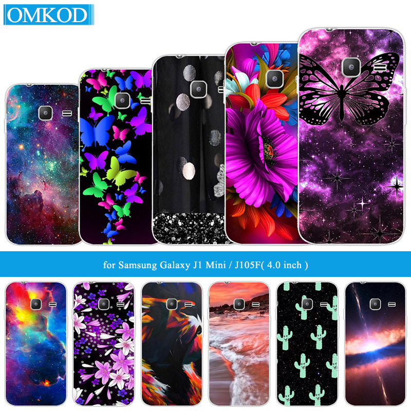 4.0 for Samsung Galaxy J1 Mini 2016 J105F J105H Back Black Matte Cover Shell For Samsung J1mini Phone Cases Butterfly Fundas