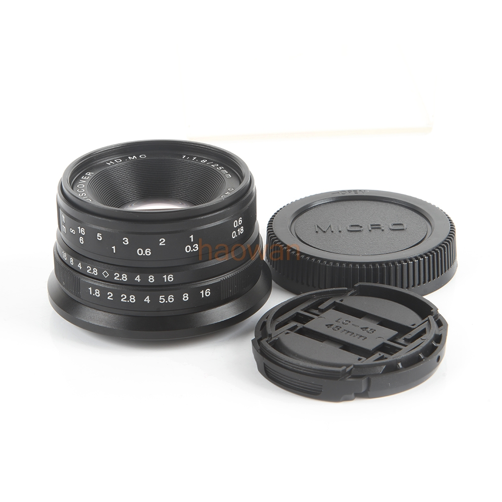 25mm F1.8 Manual Focus Wide Angle Movie Lens for Micro m43 gm1 G1 G2 G3 G5 GF1 GF2 E-PL3 GF5 GX7 GX8 GH4 EM1 EM5 EM10 camera 60mm f 2 8 2 1 2x super macro manual focus lens for micro 4 3 m43 panasonic dmc gf2 gf1 g2 gf3 g5 gh4 gh3 e m5 ep 3 e pl3