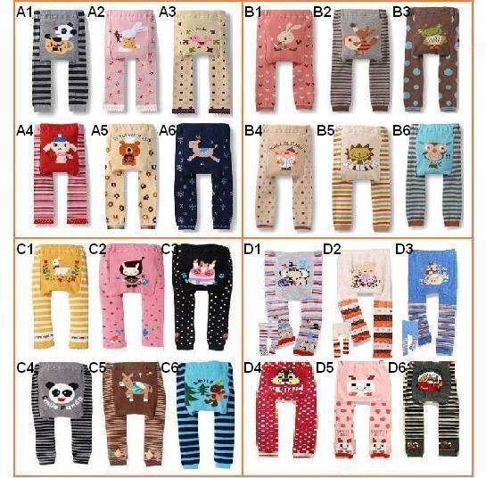 Baby Pants Boys Girls Cartoon Print Knitted Busha Brand Pp Pants Elastic Waist Toddler Leggings Kids Clothes 3-24 M