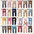 Pantalones del bebé niños niñas historieta de la impresión de punto marca busha pp pantalones de cintura elástica Leggings niño embroma la ropa 3 - 24 M