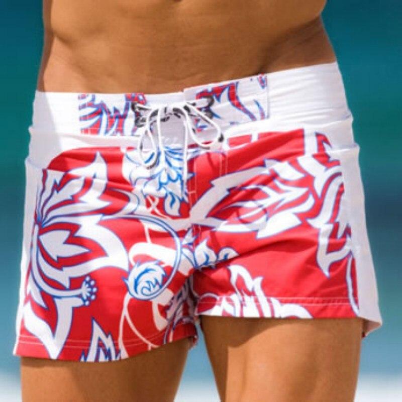 Summer Fashion Men Shorts Casual Beach Shorts Joggers Trousers Flower Print
