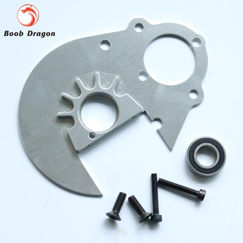 CNC Alloy 57T gear side Gear plate integrated bearing seat for1/5 HPI baja 5b Rovan King Motor t motor bearing be020 for u10 u10plus 2pcs bag