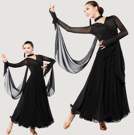 Костюмы для бальных танцев танец практика юбка Танго вальс Костюмы для бальных танцев танцевальный конкурс Платья для женщин