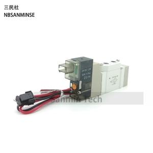 Image 5 - SY 3000 M5 G1/8 Pneumatic Mini Solenoid Valve  2 Position 5 Way Electromagnetic Valve SMC Type Automation NBSANMINSE