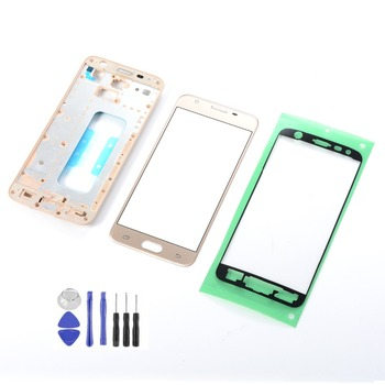 For Samsung Galaxy J5 Prime SM-G570F G570 On5 2016 Front Glass Touch Screen Sensor+LCD Housing Middle Frame+Adhesive+Tools image