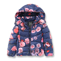Girls Winter Coat Children Casual Hooded Warm Coat Cotton Printed Thick Warm Kids Jacket Brand Girls Parka Outerwear 2-7 Years