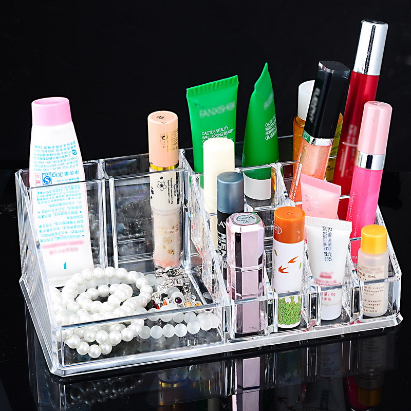 Hoomall Transparent Acrylic Cosmetic Stoareg Box Makeup Organizer Desktop Display Boxes Lipstick Holder for Kitchen Barthroom