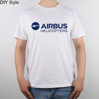 エアバスヘリコプターロゴ2014 tシャツトップ純粋な綿の男性tシャツ新デザイン高品